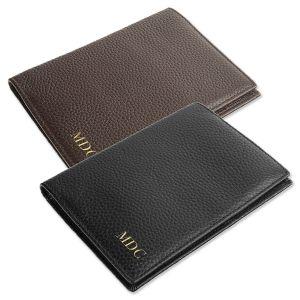 Monogrammed Genuine Leather Passport Holder