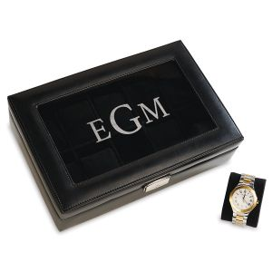 Monogrammed 10-Slot Watch Box