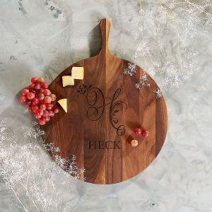Personalized Round Walnut Board