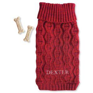 Personalized Chunky Knit Dog Sweater