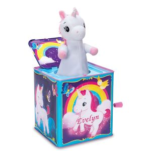 Personalized Pop and Glow Unicorn Jack in the Box