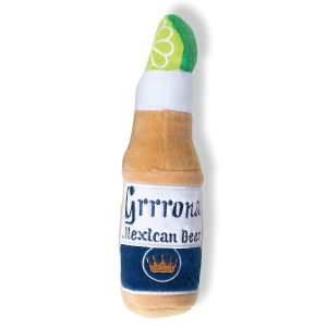 Grrrona Beer Bottle Plush Dog Toy by Haute Diggity Dog