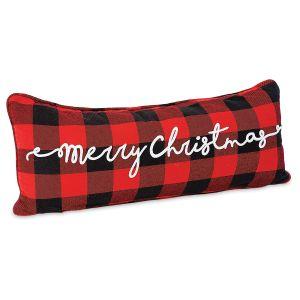 Merry Christmas Buffalo Plaid Pillow