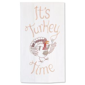 Turkey Time Fall Dish Towel