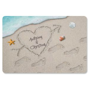 Personalized Heart Doormat
