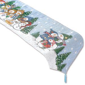 Snowmen Tapestry Runner