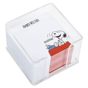 Personalized Snoopy's Typewriter Note Sheets in a Cube