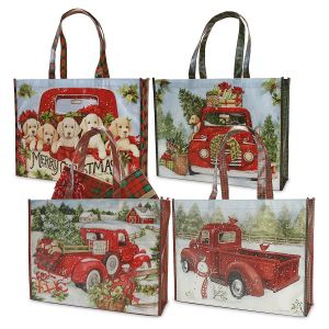 4 Red Truck Shopping Totes