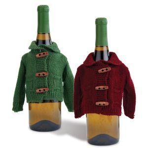 Fall Sweater Wine Bottle Toppers