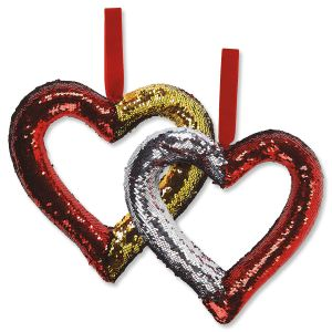 Reversible Sequin  Heart Deco