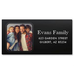 Personalized Modern Photo Border Address Label