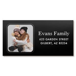 Modern Border Personalized Photo Address Label