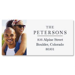 Classic Border Personalized Photo Address Label
