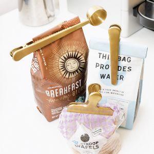 Brass Coffee Clips
