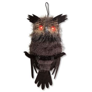 Hanging Owl with LED Eyes