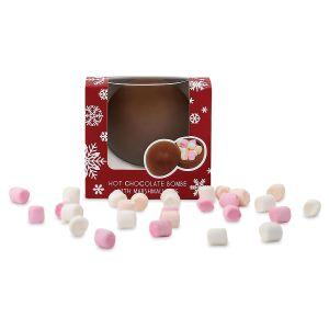 Holiday Hot Cocoa Bomb with Mini Marshmallows