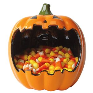 Big-Mouth Pumpkin Candy Bowl