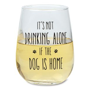 Dog is Home Stemless Wine Glass