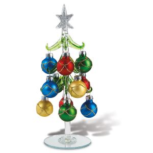 Glass Christmas Tree Accent