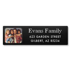 Modern Classic Personalized Photo Address Label