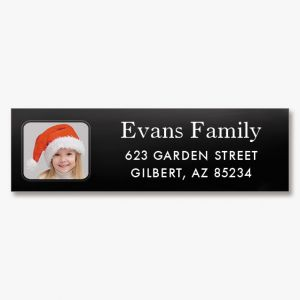Modern Classic Personalized Photo Address Label