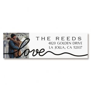 Love Classic Black Personalized Photo Address Label