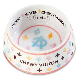 White Chewy Vuiton Bowl