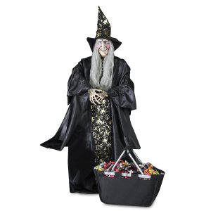 4-Foot Tall Gold Witch