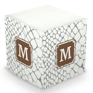 Snakeskin Sticky Memo Cube
