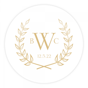 Personalized Letterpress Coasters Olive Branches