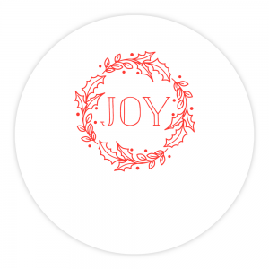 Personalized Letterpress Coasters Holly Wreath
