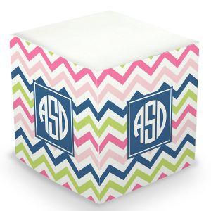 Chevron Sticky Memo Cube