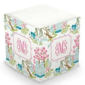 Chinoiserie Sticky Memo Cube