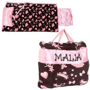 Pink Ballerina Print Napbag