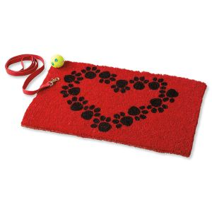 Heart and Paws Coconut Doormat
