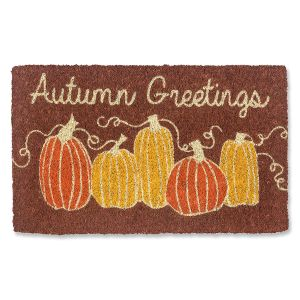 Autumn Greetings Coir Doormat