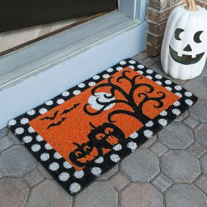Frightful And Delightful Coir Doormat
