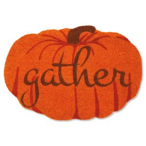 Gather Pumpkin Coir Doormat