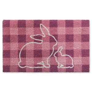 Plaid Bunny Doormat