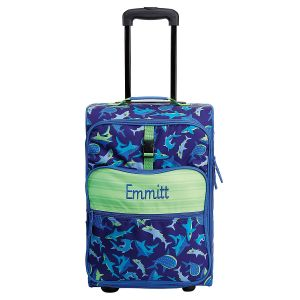 """All-Over Shark Print 22"""" Rolling Travel Luggage by Stephen Joseph®"""