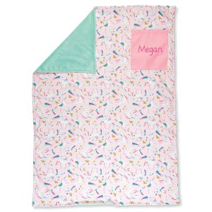 Personalized All-Over Unicorn Print Blanket by Stephen Joseph®