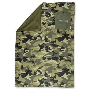 Personalized All-Over Camo Print Blanket by Stephen Joseph®