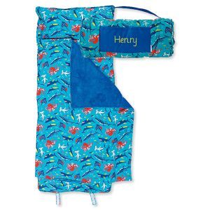 Personalized All-Over Shark Print Nap Mat by Stephen Joseph®