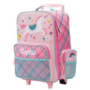 "Pink Unicorn 18"" Rolling Luggage by Stephen Joseph®"
