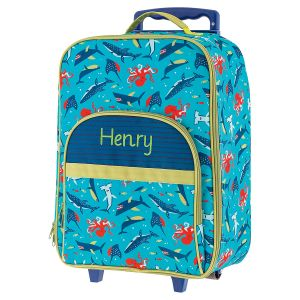"All-Over Shark 18"" Rolling Luggage by Stephen Joseph®"