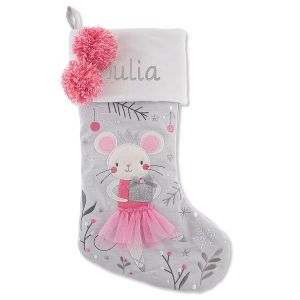 Personalized Embroidered Mouse Stocking by Stephen Joseph®