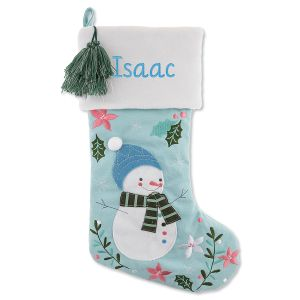 Personalized Embroidered Snowman Stocking by Stephen Joseph®