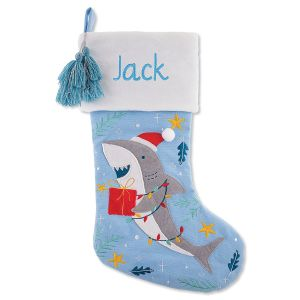 Personalized Embroidered Shark Stocking by Stephen Joseph®