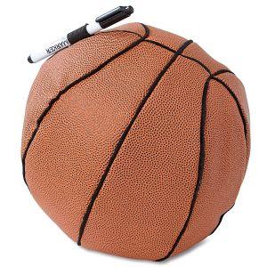 Autograph Basketball Ball Pillow