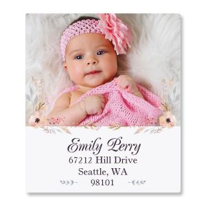 Floral Cameo Select Personalized Photo Address Label